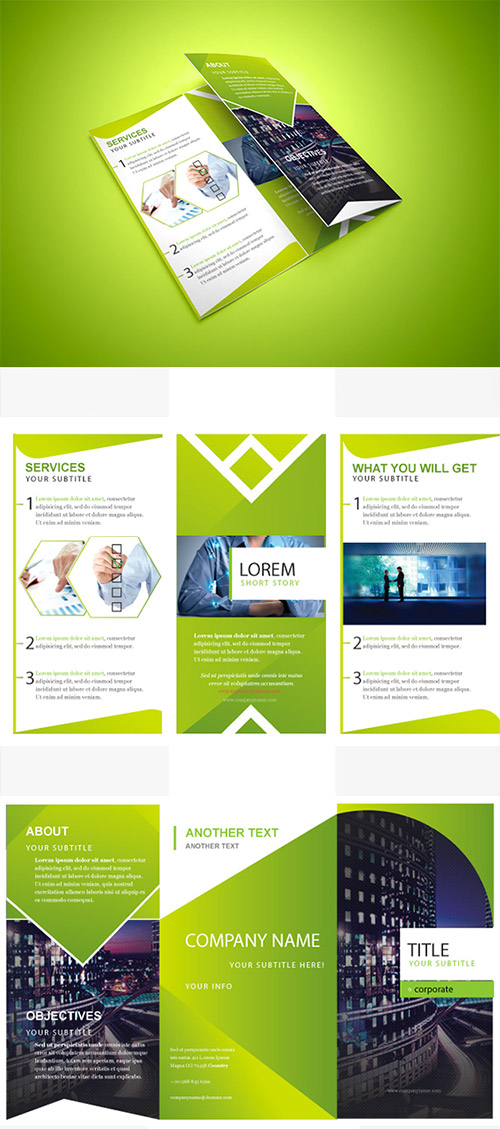 30 Creative Examples Of Tri Fold Brochure Designs Naldz