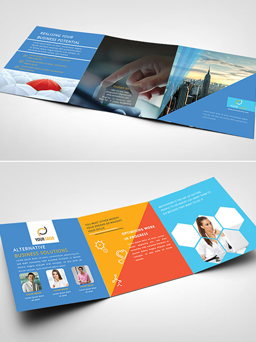 33 Imaginative Examples Of Square Brochure Designs Naldz