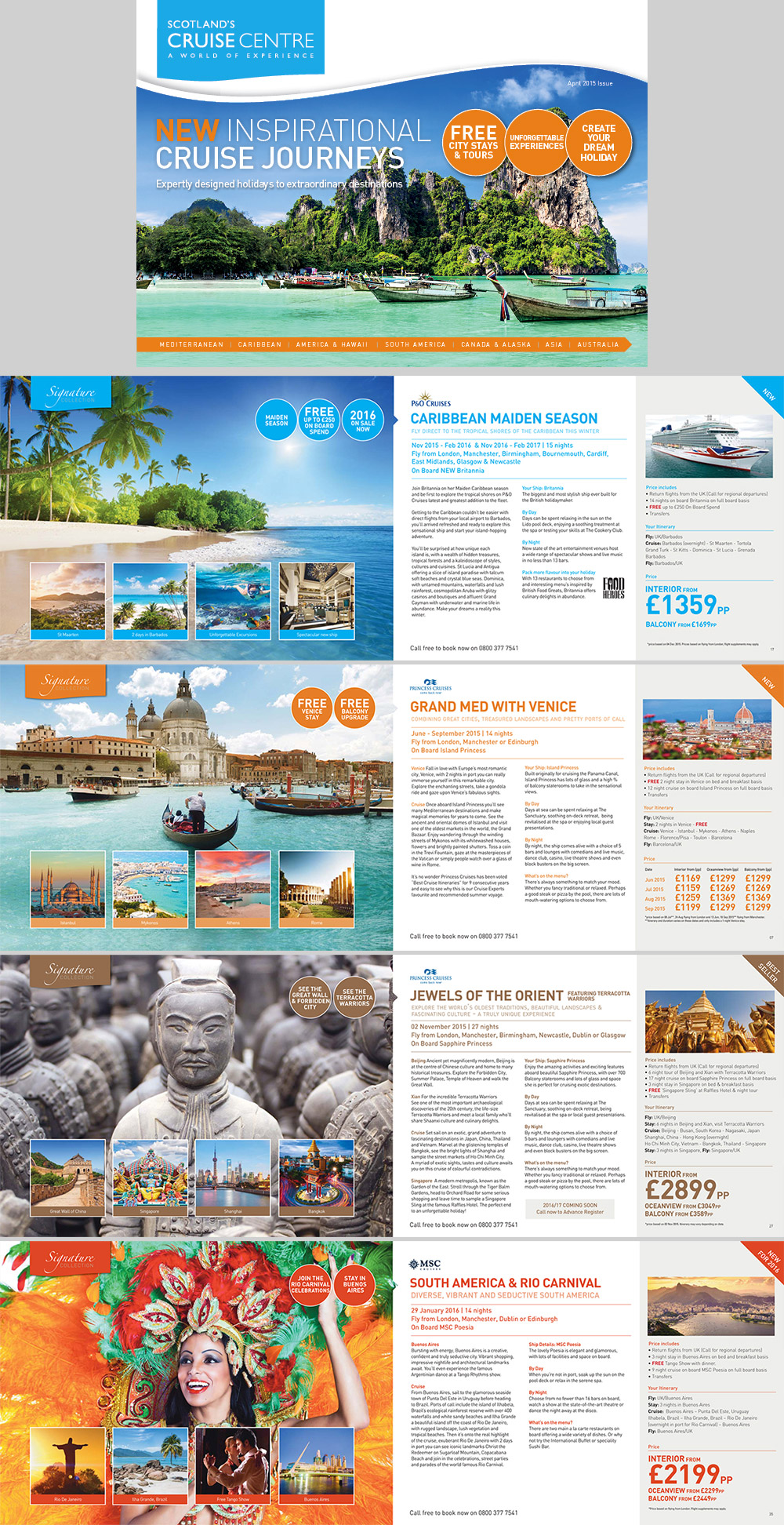 15 Travel Brochure Examples With Enticing Designs Naldz Graphics