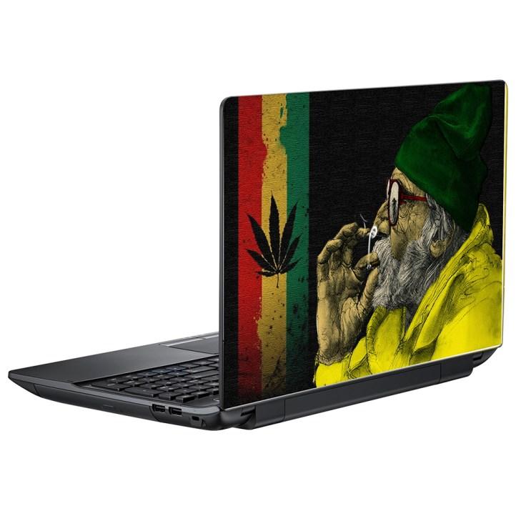 Наклейка на ноутбук Старый Растаман