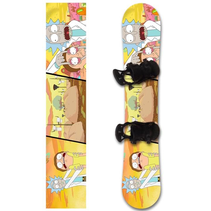 nakleika_na_snowboard_rick_morty_1000х1000