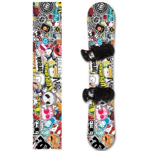 Наклейка на сноуборд Стикербомбинг