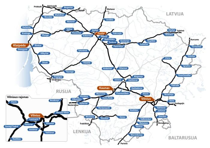 jak podrozowac po litwie mapa kolejowa