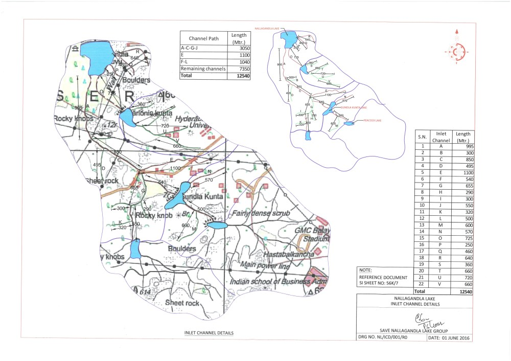 medium resolution of nallagandla lake chanel path