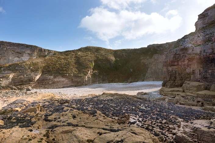 La plage de galets de l'Evette