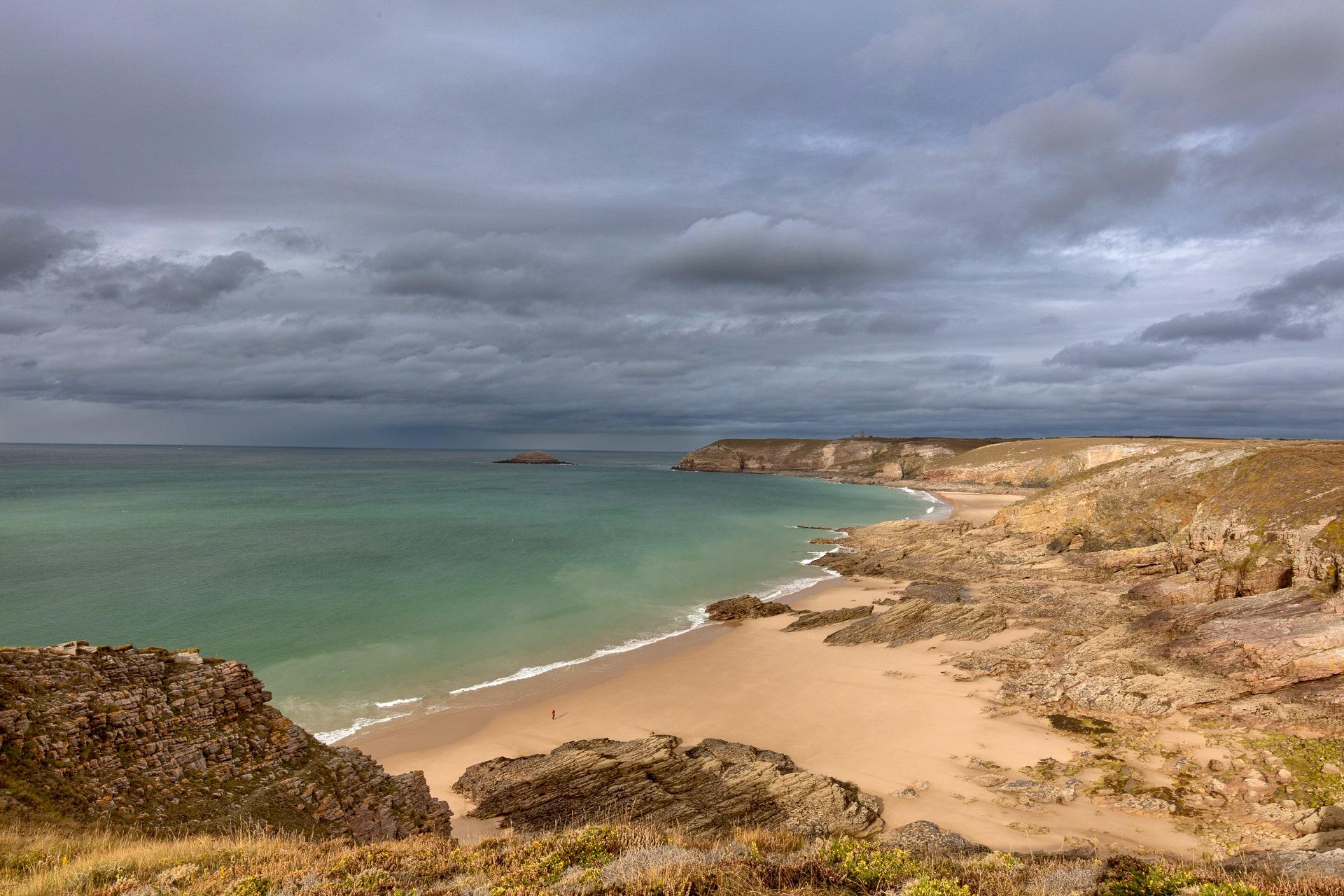 Panorama de la côte sauvage