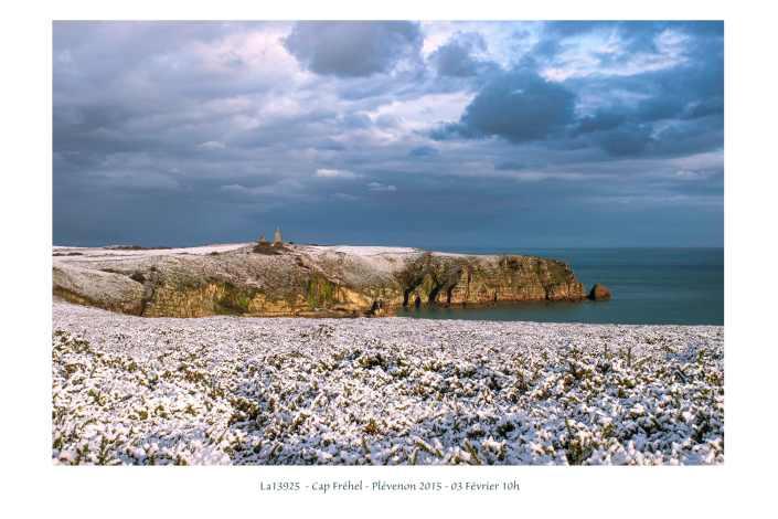 portfolio du photomarcheur - le Cap Fréhel sous la neige