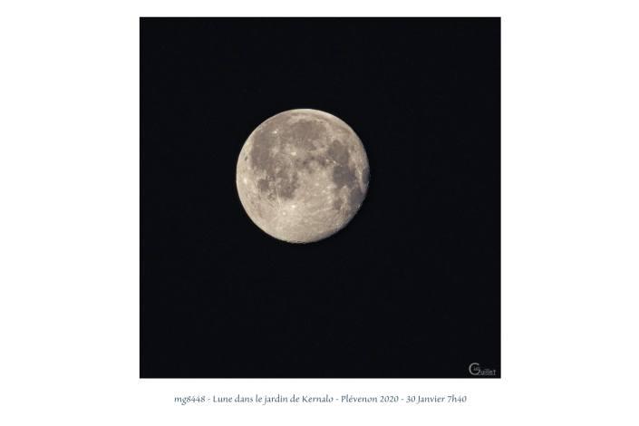 portfolio du photomarcheur - Lune dans le jardin de Kernalo