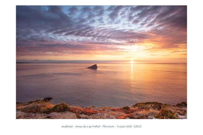 coucher de soleil à l'amas du Cap