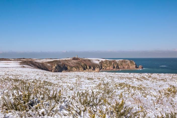 Cap Fréhel en début d'après midi sous la neige
