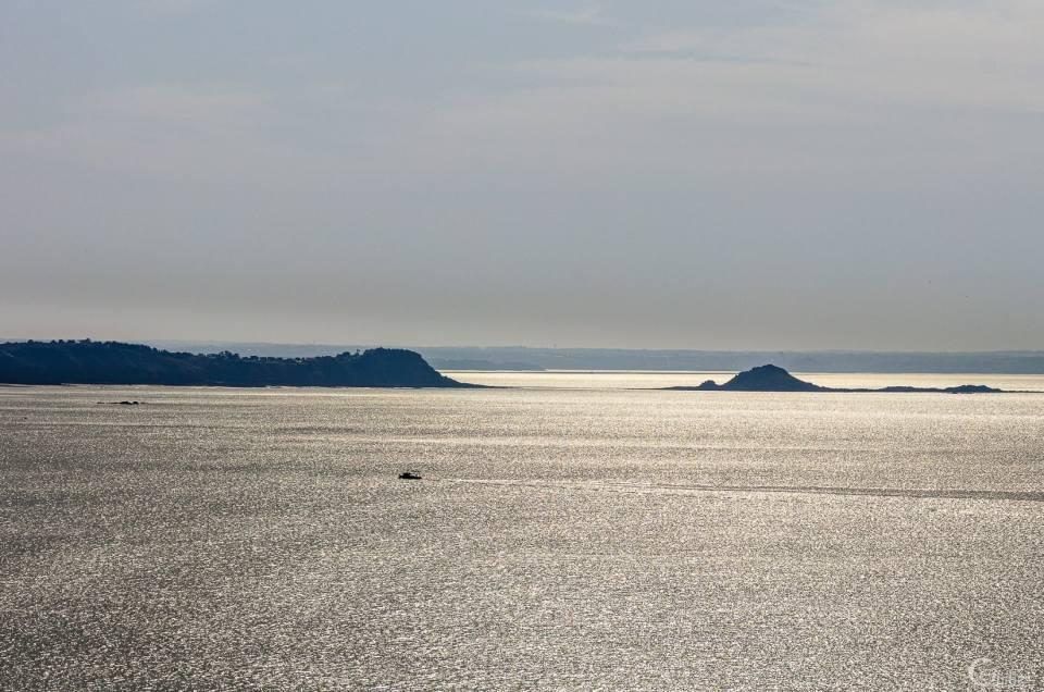 Balade au Cap d'Erquy pendant la grande marée