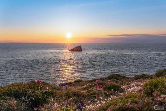 Coucher de soleil au cap Fréhel - Amas du Cap