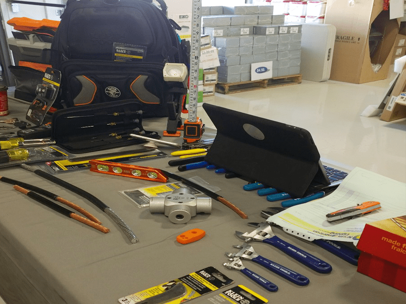 Klein Tools breakfast image of tools