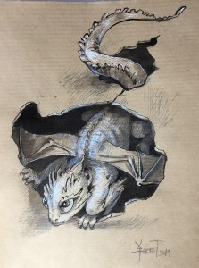 Petit dragon émergeant