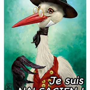 Cigogne-sticker
