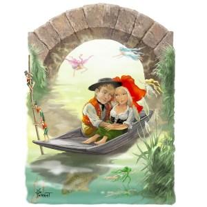 Barque des amoureux alsaciens