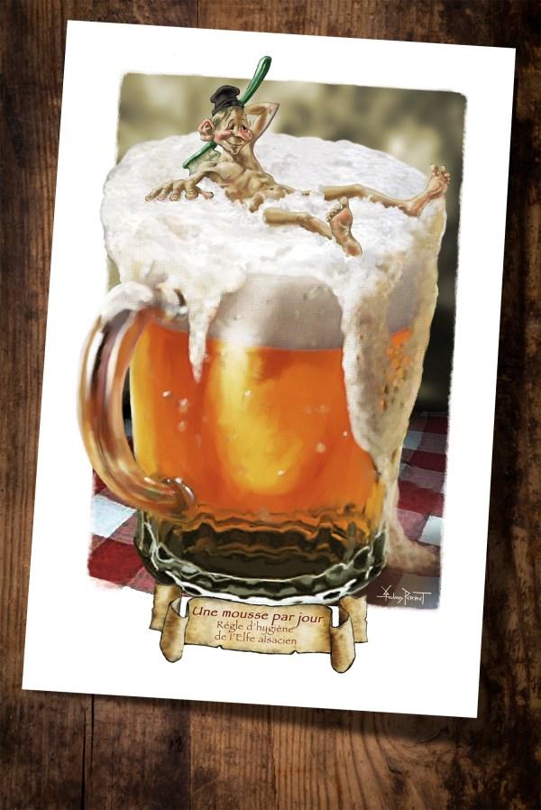 carte postale bière
