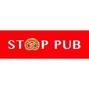 stop-pub bretzel rouge