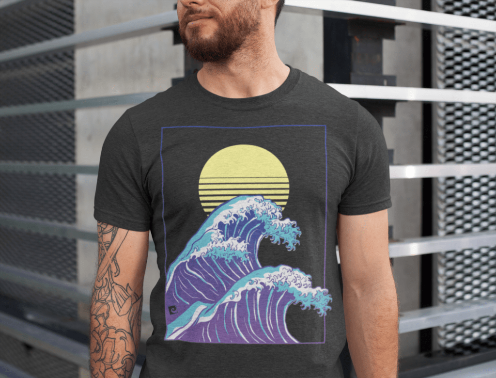 Wave of Life Shirt Herren