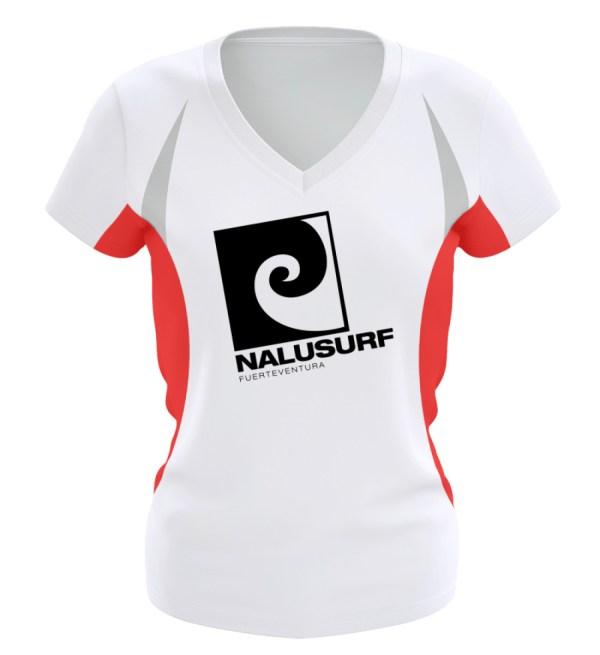 Nalusurf Fuerteventura Sport - Frauen Laufshirt tailliert geschnitten-6756