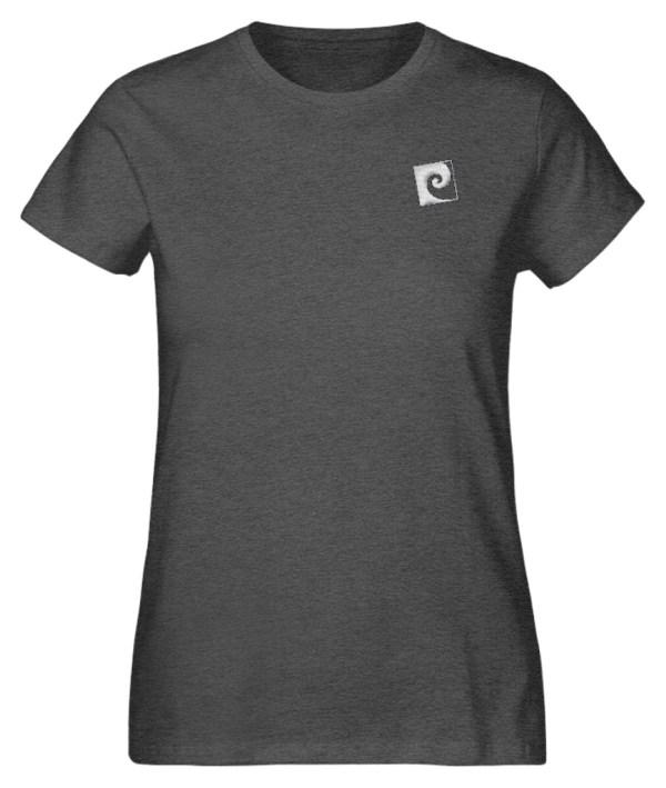 Textil Stick Nalu - Damen Organic Melange Shirt mit Stick-6898