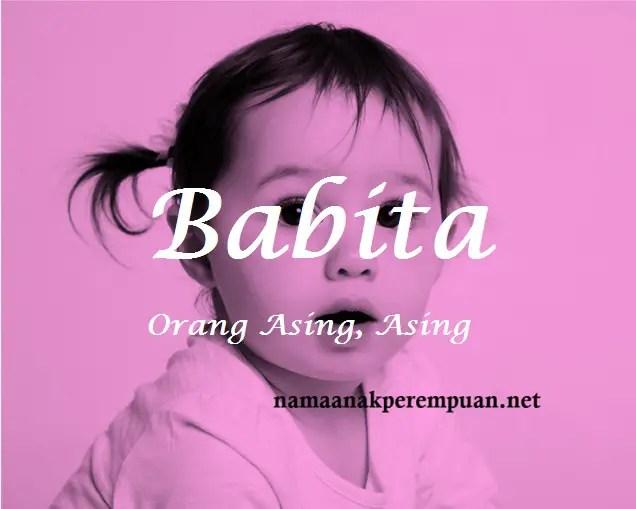 arti nama babita