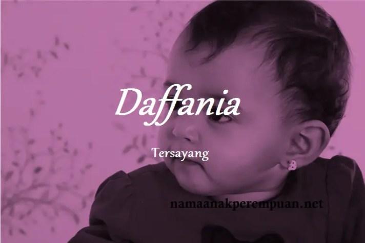arti nama daffania