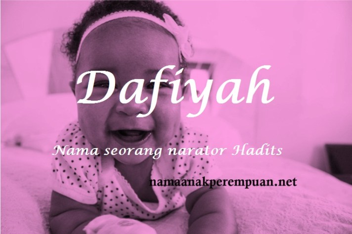 arti nama dafiyah