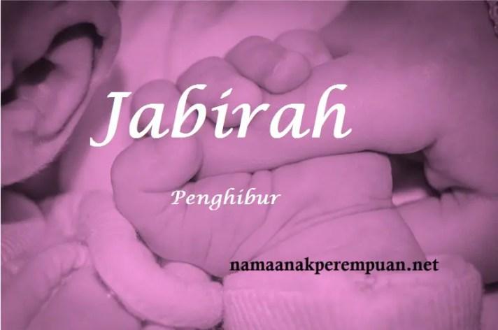 arti nama jabirah