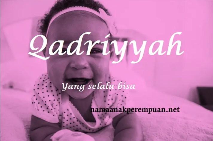 arti nama qadriyyah