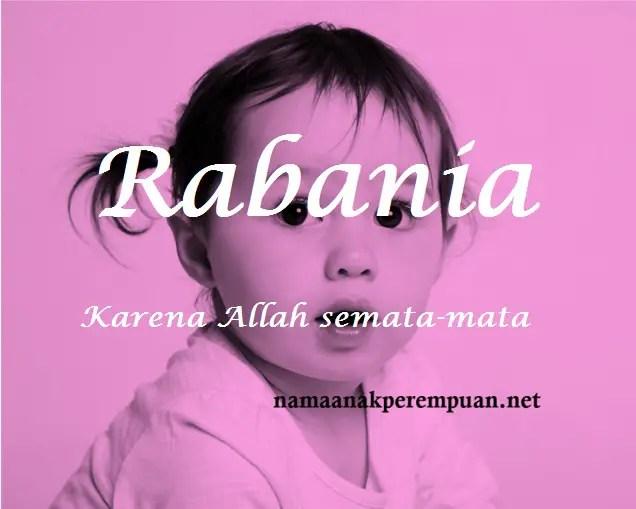 arti nama rabania