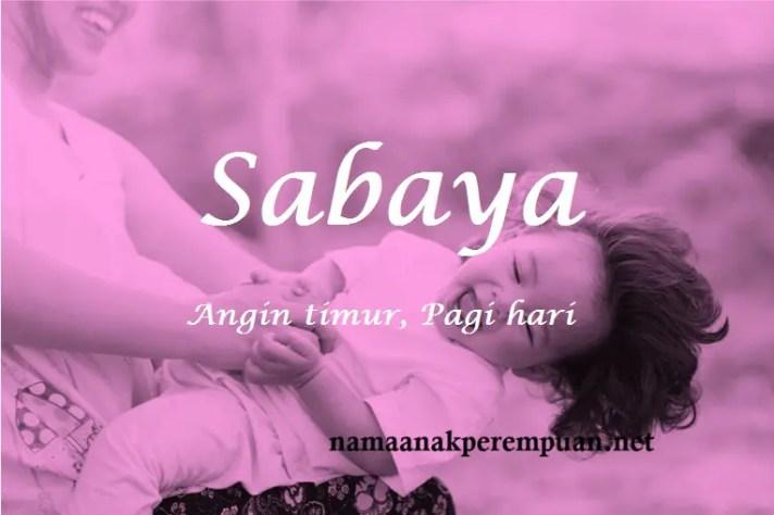 arti nama sabaya