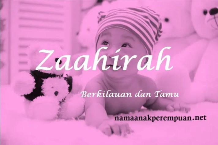 arti nama Zaahirah