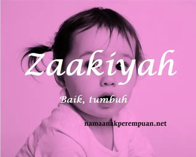 arti nama Zaakiyah