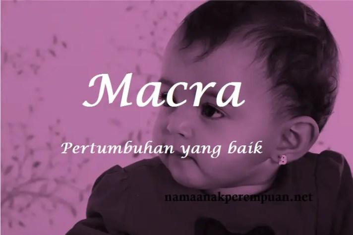 arti nama macra