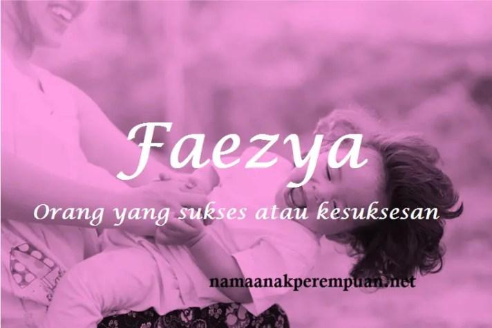 arti nama Faezya