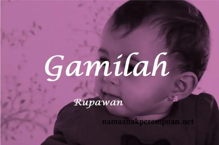 arti nama Gamilah