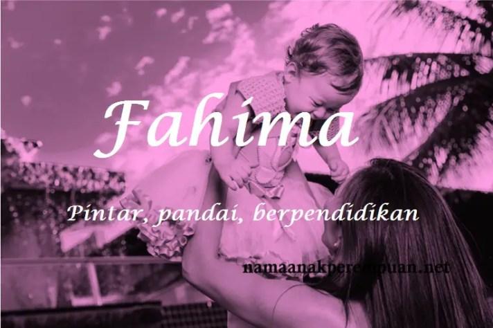 arti nama fahima