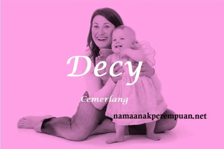 arti nama Decy