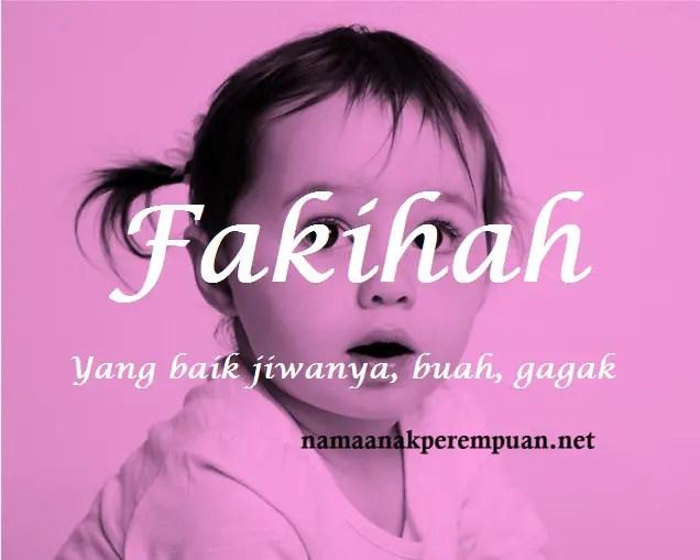 arti nama Fakihah