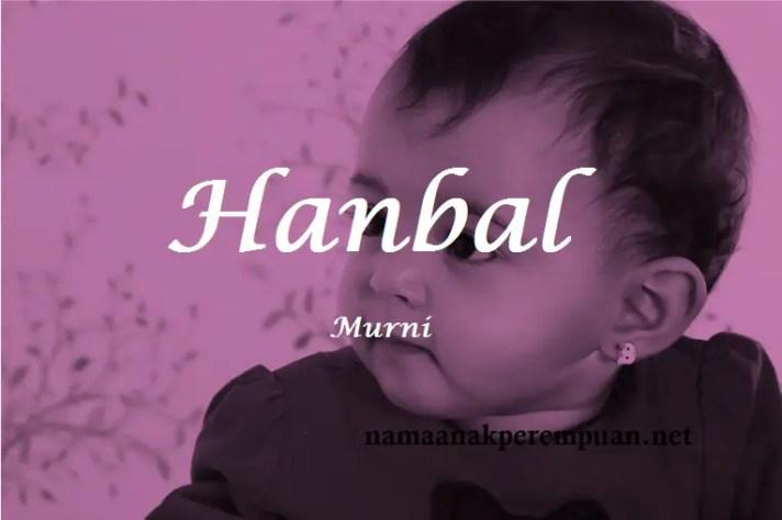 arti nama Hanbal