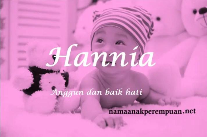 arti nama Hannia