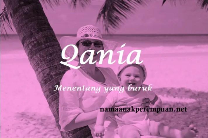 arti nama Qania