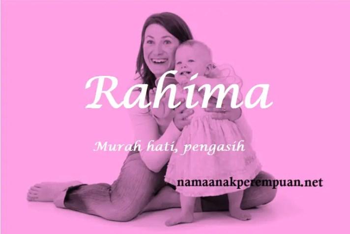 arti nama Rahima