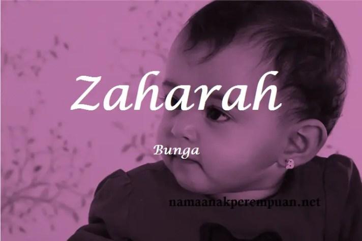 arti nama Zaharah