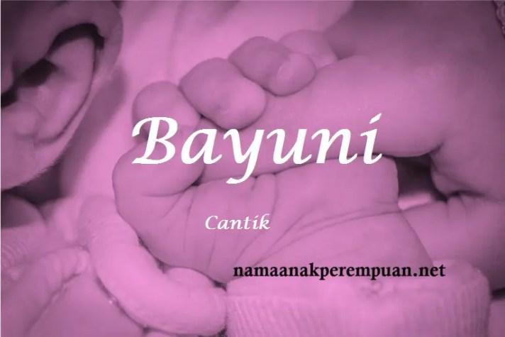 arti nama Bayuni