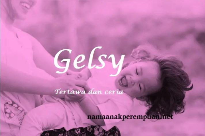 arti nama Gelsy