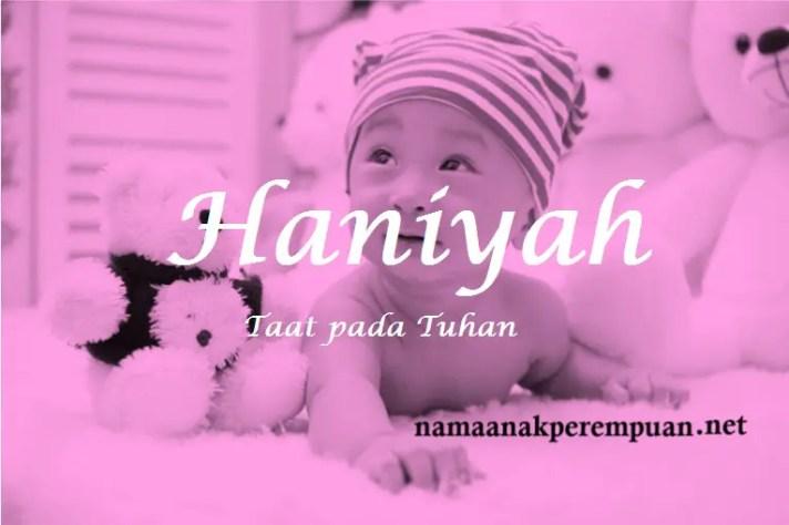 arti nama Haniyah