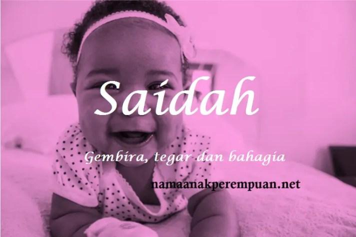 arti nama Saidah