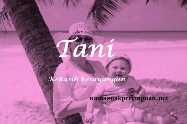 arti nama Tani